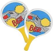 Beach Paddles Beach,Indoor Outdoor Beach Tennis Wooden Paddles Ball Game Playing Racket Sports Equipment
