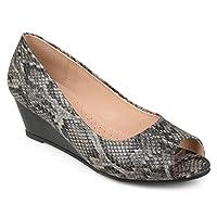 Journee Collection Womens Chaz Peep-toe Comfort-sole Wedges Deals