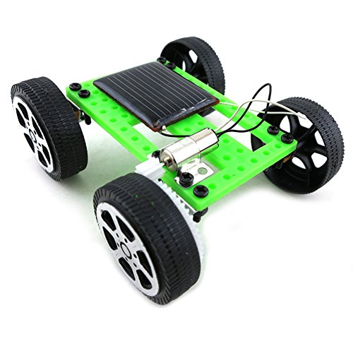 Catnew Mini Solar Powered Racing Car Vehicle Educational DIY Gadget Kit Kids Children Gift Toy