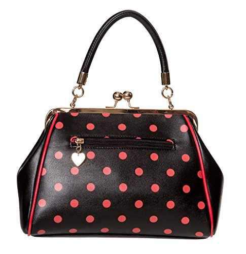 50s Polka Banned Red Rockabilly Black Dot Handbag Retro Crazy Vintage Apparel qtUgtPH