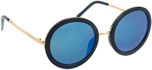 Rhinestones Round Circle Sunglasses Metal Frame Womens Shades UV 400