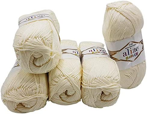 Alize Bahar - Ovillo de lana (algodón mercerizado, 500 g, 100 ...