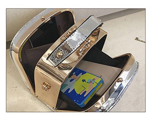 De Lentejuela Hilo 16 Doble Grey Bolso KYOKIM Hombro Del Crossbody Bolso 16cm De Cosido Señoras Pequeño Las Cuadrado Del Cosido De 10 Del Centro Viaje La Comercial 8AgYwq