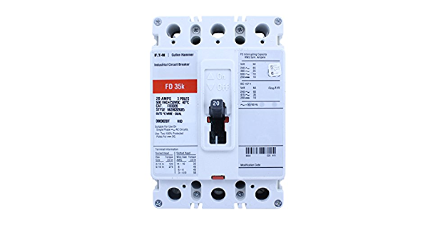 CUTLER HAMMER BD3020 30//20 AMP 1 POLE PLUG-IN CIRCUIT BREAKER -MSE