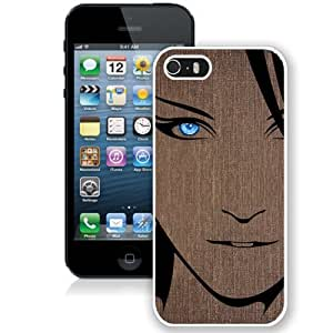 Anime girl brunettes (2) Hard Plastic iPhone 5 5S Protective Phone Case