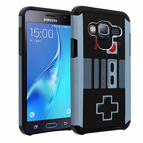 Galaxy J7 (2016) Case, DURARMOR Vintage Nintendo NES Game Controller Dual Layer Hybrid Case ShockProof Ultra Slim Fit Armor Air Cushion Drop Protection Cover Samsung Galaxy J7 J710 (Game Controller Protection)