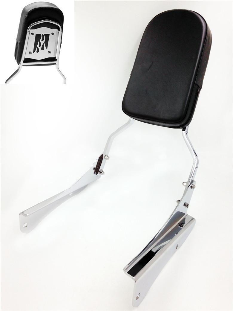 HTTMT MT138+SS001-SA Compatible with Honda Shadow Spirit VT 750 2001 2002 2003 2004 2005 2006 2007 2008 Sissy Bar