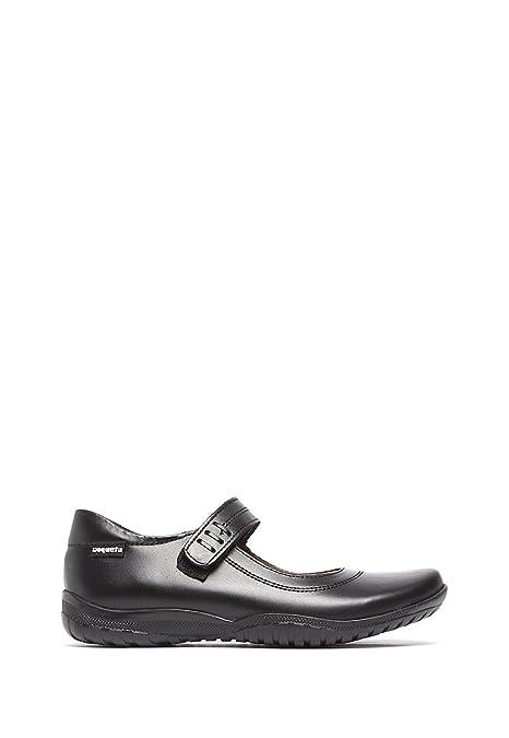 57b6318d Coqueta Zapato con Punta Cuadrada y Cinta Zapato para Niñas: Amazon ...