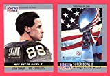 1990 Pro Set Football (Super Bowl #10) **** (2) Card Lot featuring Super Bowl MVP Lynn Swann and Super Bowl Program Cover (Steelers) (Cowboys)