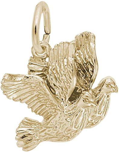 Turtle Charm Gold Plated - Rembrandt Turtle Doves Charm - Metal - Gold-Plated Sterling Silver