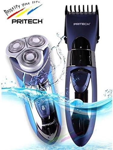 PRITECH SHOP Afeitadora eléctrica e impermeable con 3 cabezales y ...