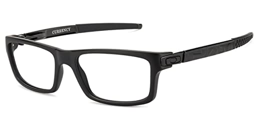 9d0ac130cee5e Oakley CURRENCY™ OX8026-0154 Matte Black Eyeglasses for Men Women   Amazon.in  Clothing   Accessories