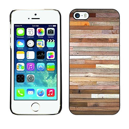 Premio Sottile Slim Cassa Custodia Case Cover Shell // V00002425 mur en bois // Apple iPhone 5 5S 5G