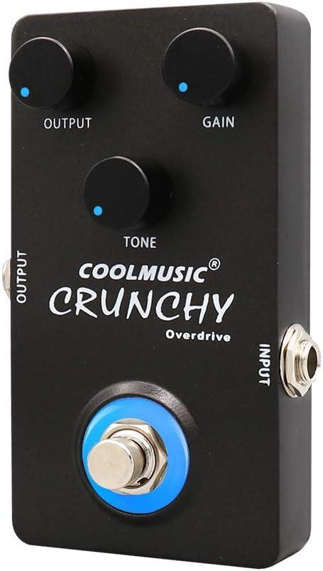 Coolmusic C-OV01 Crujiente Guitarra eléctrica Pedal de efecto Overdrive analógico True Bypass Carcasa de metal completo