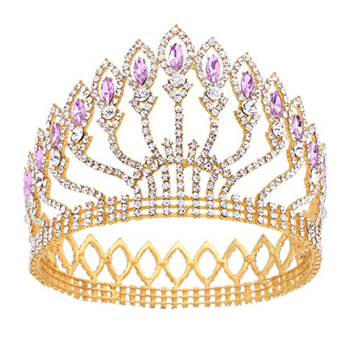 Stuffwholesale Marquise Crystal Crown Women Girl Queen Tiara Banquet Party Headwear -