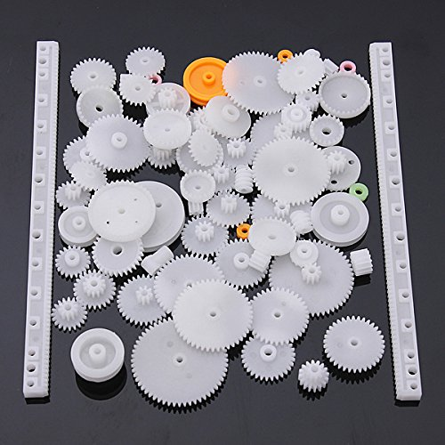 Lucksender 75 Type Plastic Crown Gear Single Double Reduction Gear Worm Gear