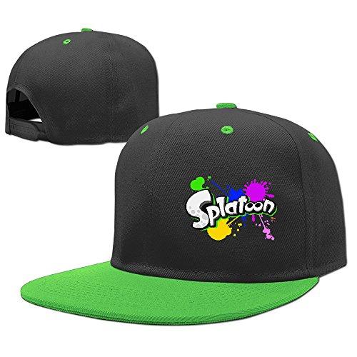 AAWODE Kid's Splatoon Graffiti Hats Caps KellyGreen