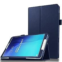 "Jwest Samsung Galaxy Tab E 9.6 Case - [Auto Sleep/Wake UP] Ultra Slim Smart Folio Stand Case Cover For Samsung Galaxy Tab E /Tab E Nook 9.6"" Tablet(SM-T560/T561/T565 & SM-T567V) Dark Blue"