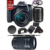 Canon EOS 77D DSLR Digital Camera 18-135mm Lens International Model Bundle + Canon 55-250 STM Lens