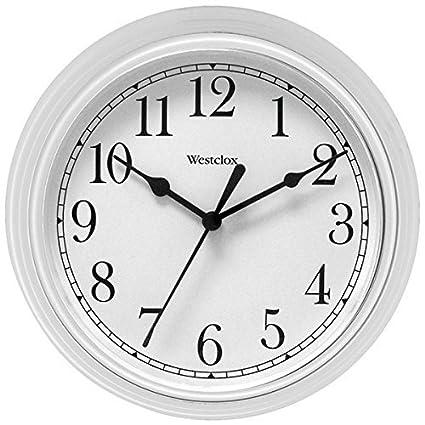 Amazon.com: Bathroom Wall Clock, Westclox Simplicity Analog ...