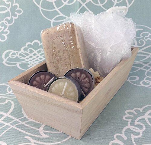 Women's Bath Spa Gift Set, Pre de Provence Shea Butter Soaps (Honey Almond)