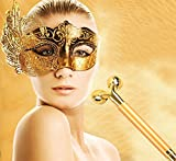 Vinmax Beauty Bar Massager,Beauty Stick&24k Golden Pulse Facial Massager&3D Face Roller Massager-High Frequency Vibration Face Shaping Slimming Wrinkle Remover for Lifting,Energy (Gold)