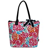 quilted fabric bags - Ngil Quilted Cotton Medium Tote Bag 2018 Spring Collection (All Flowers)