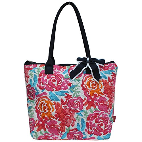 Ngil Quilted Cotton Medium Tote Bag 2018 Spring Collection (All Flowers)