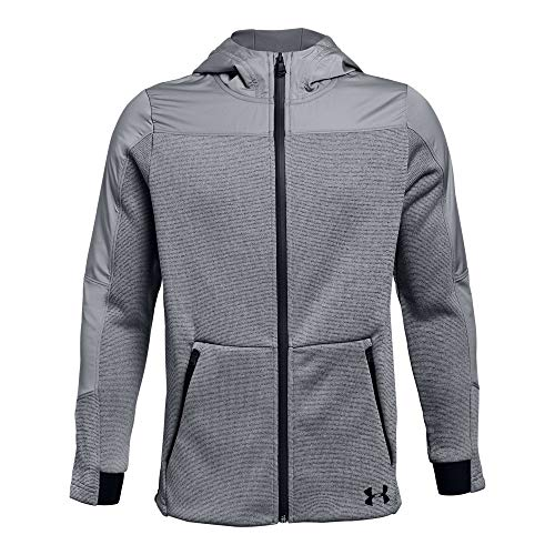 - Under Armour Boys Swacket, Steel (035)/Black, Youth Large