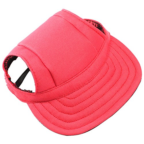 BUYITNOW Pet Sun Hat with Ear Holes Adjustable Baseball Cap for Small Dogs, 4-20lb