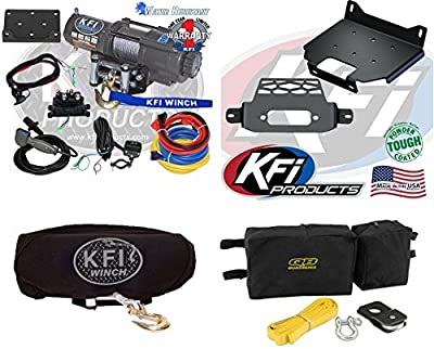 Polaris RZR 900 2015+ 4500 lb Winch,Winch Mount,Winch Cover and Winch Accessory Kit