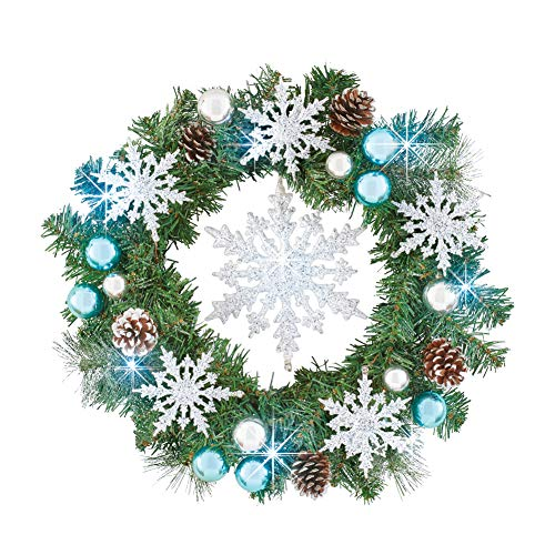 Outdoor Lighted Snowflake Ornaments in US - 7