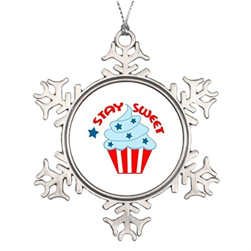 Stay Puft Marshmallow Man Lawn Decoration (Cupcake July Xmas Trees Decorated Tree Snowflake Ornaments Christmas Snowflake)