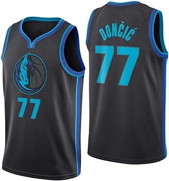 OLIS Camiseta de Baloncesto para Hombre, NBA Dallas Mavericks 77 Doncic Retro Jugador de Baloncesto Jeysey, Bordado Transpirable y Resistente al Desgaste Camiseta para Fan: Amazon.es: Deportes y aire libre