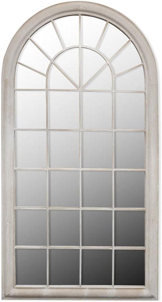 Tidyard Espejo rústico de Arco para jardín de Hierro y Cristal 115 ...