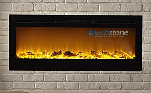 Touchstone Sideline Recessed Electric Fireplace with