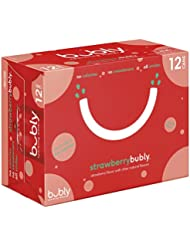 bubly Sparkling Water, Strawberry, 12 ounce Cans (Pack of 12)