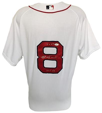 Carl Yastrzemski Signed Boston Red Sox Majestic Cool Base Jersey TC67 HOF89  JSA 4116c349fd8