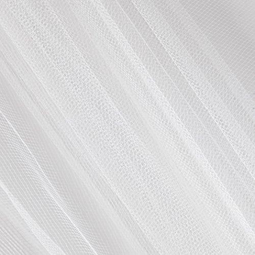 Falk Fabrics 0541954 108in Apparel Grade Tulle Silk White (Bolt, 50 Yard),