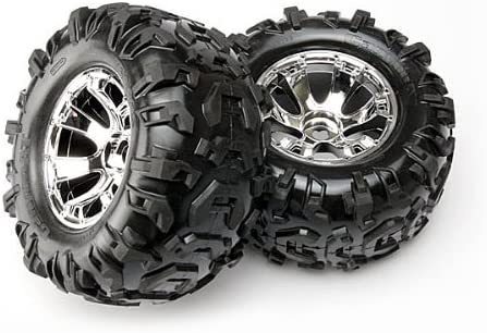 Traxxas 5673 Canyon AT 3.8' Tires on Geode Wheels [並行輸入品]