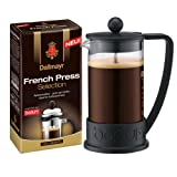Bodum French Press Coffee Maker (12 Oz) & Dallmayr French Press Coffee (20 Oz)
