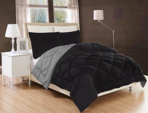 Elegant Comfort All Season Comforter and Year Round Medium Weight Super Soft Down Alternative Reversible 3-Piece Comforter Set, King, - Luxury Park Collection Avenue