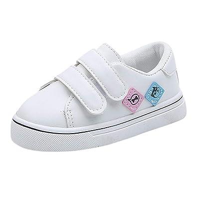 e58bf4afaaf16 Sneakers Basses Mixte Enfant,Chaussures Bébé en Cuir,Premier Pas Bébé 1 Ans-