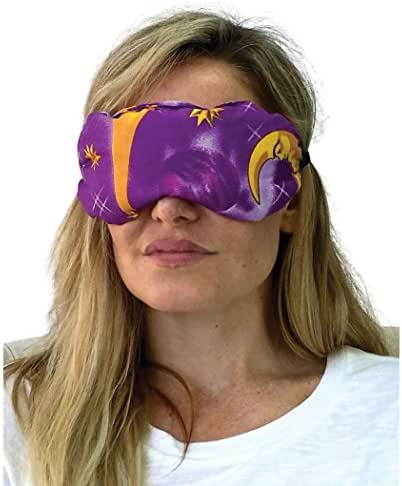 Nw Eye Mask for Sleeping, Lavender Eye Pillow for Yoga and Natural Relaxation - Natural Hot and Cold Eye Mask, Lavender Eye Cover for Headache, Puffy Eyes, Insomnia, Stress Relief, Sinus Pain