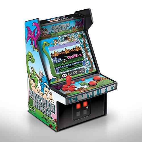 My Arcade Micro Player Mini Arcade Machine: Caveman Ninja Video Game, Fully Playable, 6.75 Inch Collectible, Color…