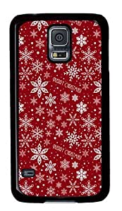 Christmas Pattern Holiday PC Case Cover for Samsung S5 and Samsung Galaxy S5 Black