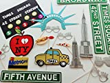 New York Photo Booth Props Glasses Big Apple Times Square Sign