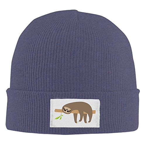 Sloth Lying On Tree Branch Cute Unisex Protective Caps Stocking Hats