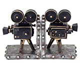 Bellaa 26287 Vintage Camera Bookend Old Style Movie Film 7 inch