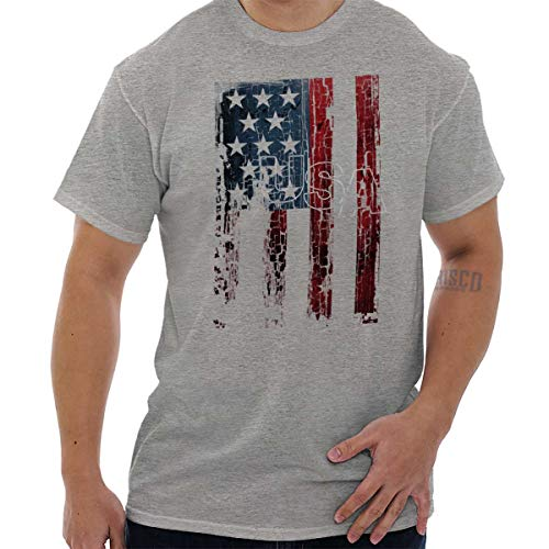 (United States Flag Stars Stripes Patriotic T Shirt Tee Sport Grey)